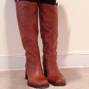 Steve Madden woper leather tall boots size 7.5M